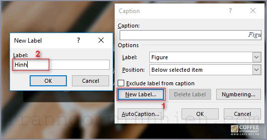Tạo mục lục hình ảnh trong Word