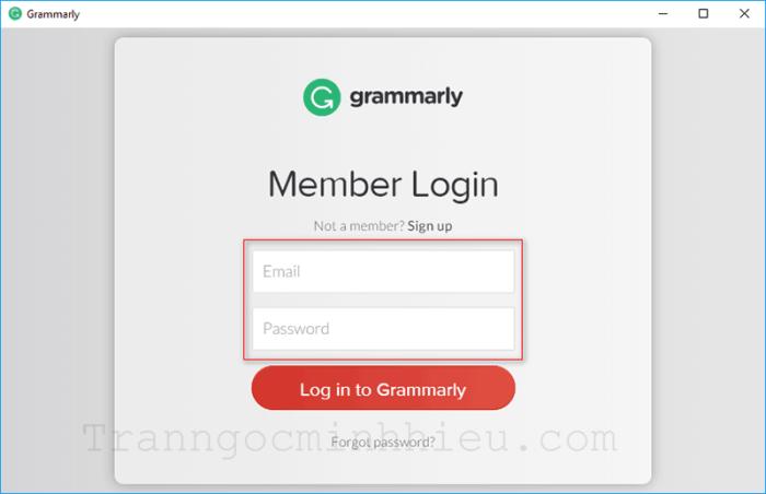 Cài đặt và đăng nhập Grammarly