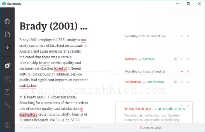 Phần mềm sửa lỗi ngữ pháp tiếng Anh trên máy tính