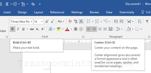 Để sử dụng thành thạo Word hãy tập dùng phím tắt