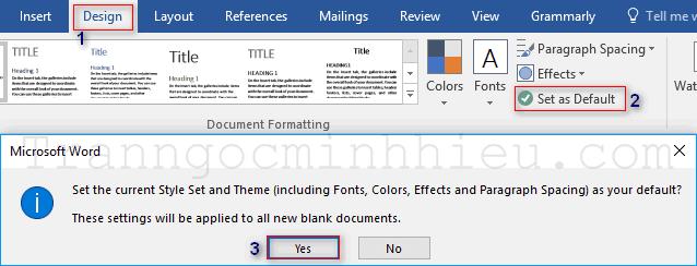 Cách sử dụng Template trong Word. Lưu template đã định dạng thành mặc định