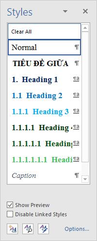 Định dạng Heading kết hợp Multilevel list, chuẩn viết bài luận